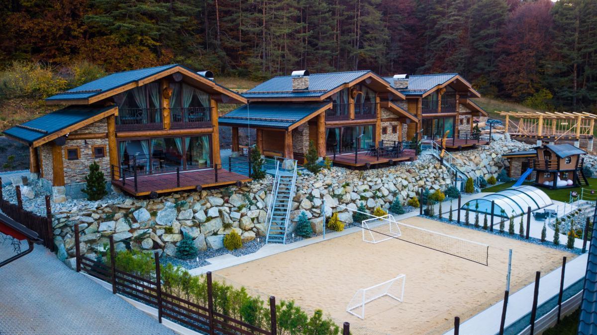 Three cottages in Valcianska valley, Slovakia