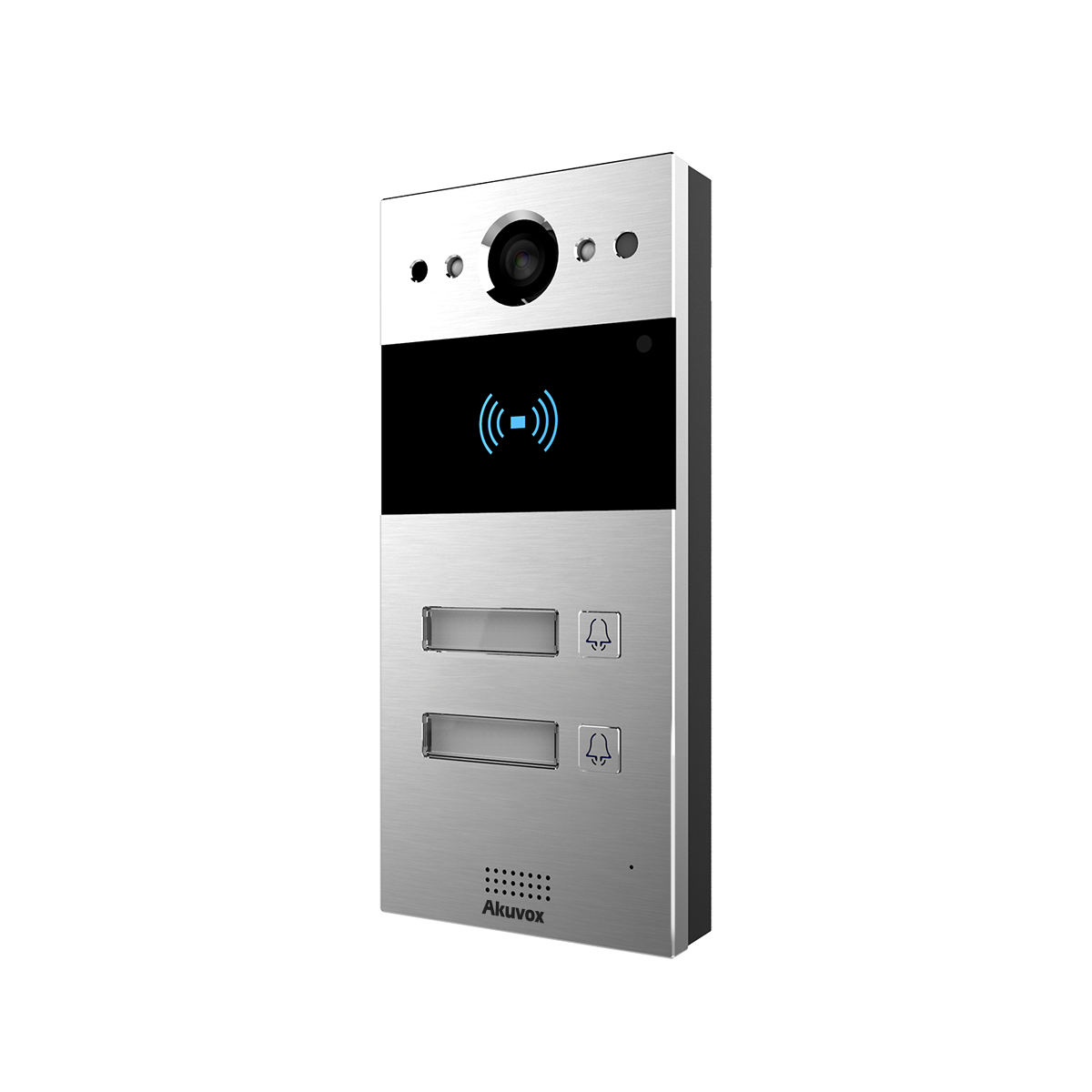 Video doorbell with 2-5 buttons including rain shield
